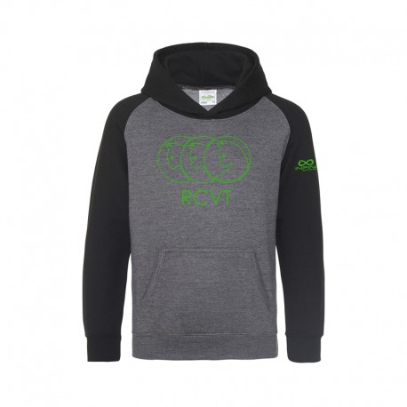 SWEAT CAPUCHE BI-COLORE